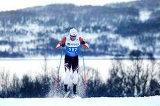 Martin Johnsrud Sundby på vei mot suveren seier på 15 kilometer klassisk under NM i Tromsø 2016. Foto: Erik Borg.