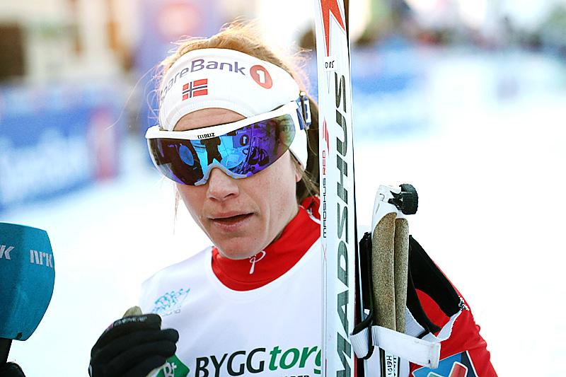 Heidi Weng ble norgesmester i sprint under NM i Tromsø 2016. Foto: Erik Borg.