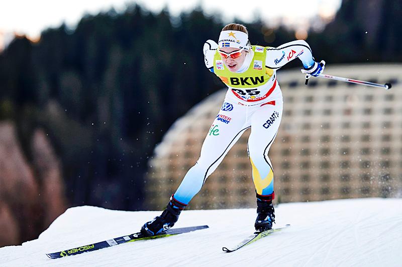 Jonna Sundling under verdenscupen i Davos en tidligere vinter. Foto: Felgenhauer/NordicFocus.