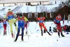 Petter Northug parkerte konkurrentene i spurten på fellesstart med skibytte under NM i Tromsø 2016, men selv var han ikke helt fornøyd med avslutningen. Foto: Erik Borg.