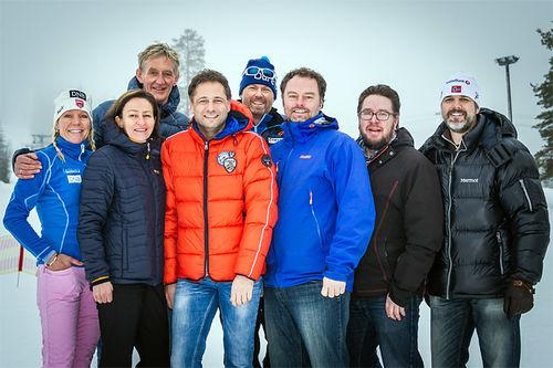 På åpen dag ved Trysil videregående skole blir det også mulighet for å hospitere på samling med Snow Team Trysil. Her er deler av ressursteamet for tilbudet. Foto: Destinasjon Trysil.