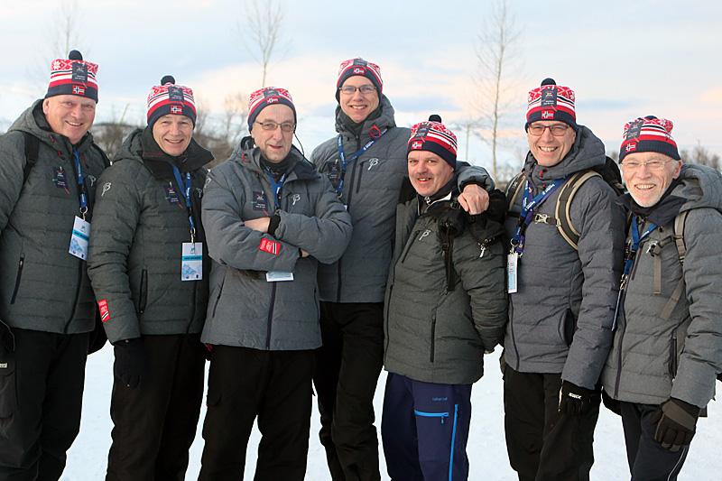 Mange fra NM Lygna 2017 kom for å observere NM Tromsø 2016. Fra venstre: Jarle Bang, Gudbrand Tingelstad, Arne Næss, Jan Helge Ekeren, Finn Staff, Ole Bjerke og Edvin Straume. Foto: Erik Borg.