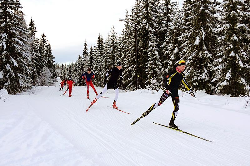 Fra NTG Lillehammer langrenn sin infosamling en tidligere vinter. Foto: NTG Lillehammer.