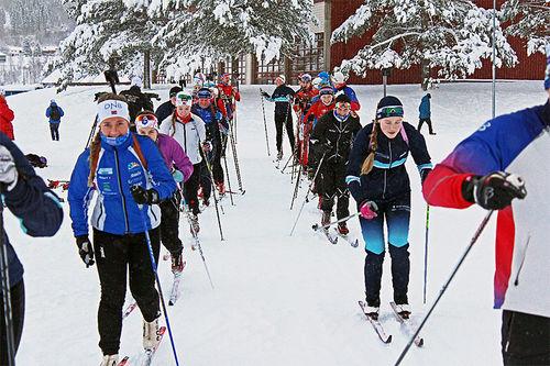 Trening ved Meråker videregående skole. Foto: Meråker vgs.