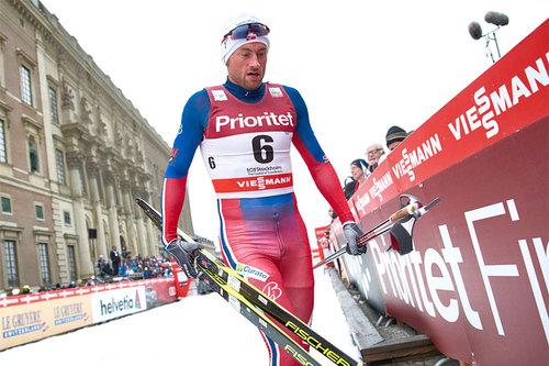 Petter Northug på Stockholm-sprinten 2016, hvor det ble 3. plass. Foto: Felgenhauer/NordicFocus.