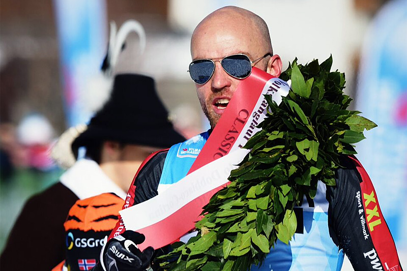 Tord Asle Gjerdalen vant Toblach-Cortina i Ski Classics forrige vinter. Foto: Magnus Östh/Visma Ski Classics.