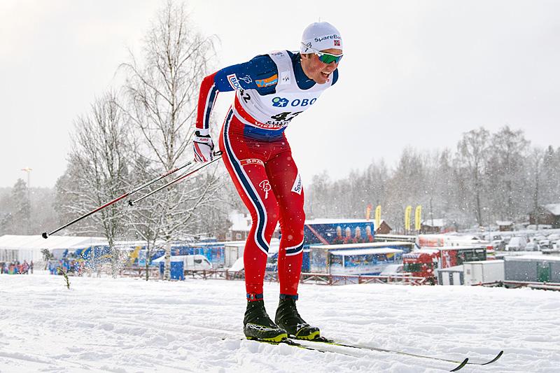 Emil Iversen på vei inn til en sterk 4. plass på 10-kilometeren i Falun 2016, bare 7 sekunder bak vinneren. Foto: Felgenhauer/NordicFocus.