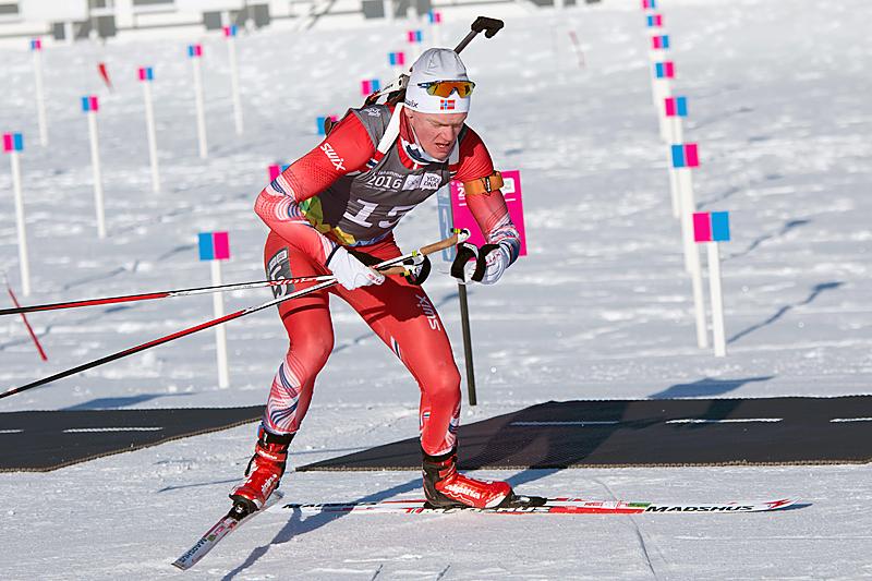 Sivert Guttorm Bakken på vei mot sølv på sprinten under Ungdoms-OL i Lillehammer. Foto: Vegar S. Hansen / Lillehammer 2016.