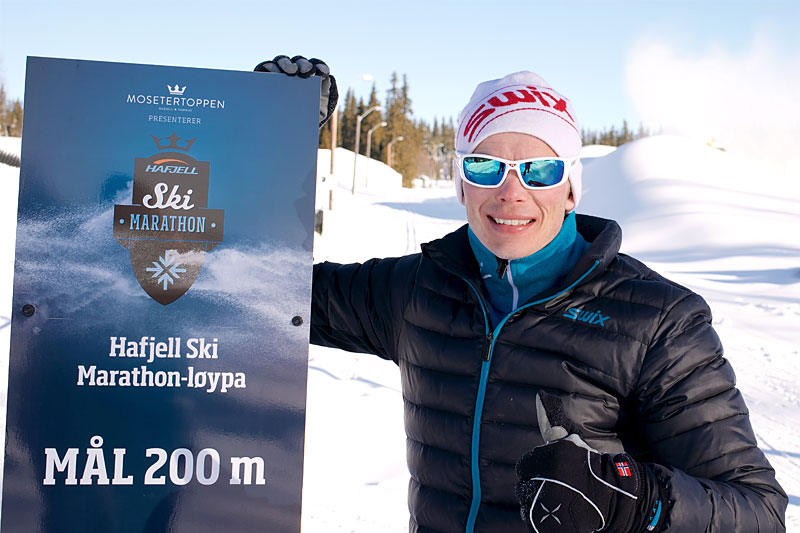 Den tidligere toppløperen Espen Harald Bjerke er nå markedsansvarlig for Hafjell Ski Marathon. Foto: Morten Nordlie.