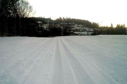 Godt og vel en uke i forkant av Søre Ål-runden 2106 ser det slik ut ved startområdet nær Lillehammer by. Arrangørfoto.