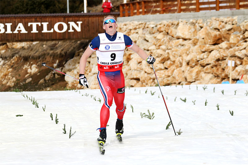 Mikael Gunnulfsen inn til VM-bronse på 15 km klassisk under U23-VM i Rasnov og Romania 2016. Foto: Erik Borg.