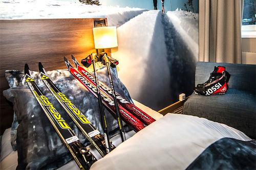Liten tvil om at langrenn har stor fokus ved Lillehammer Hotel. Foto: Liv Maren Mæhre Vold.