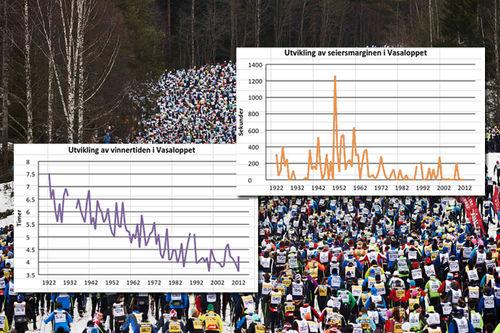 Vasaloppet. Foto: Felgenhauer/NordicFocus med grafikk av Sigmund Hov Moen.