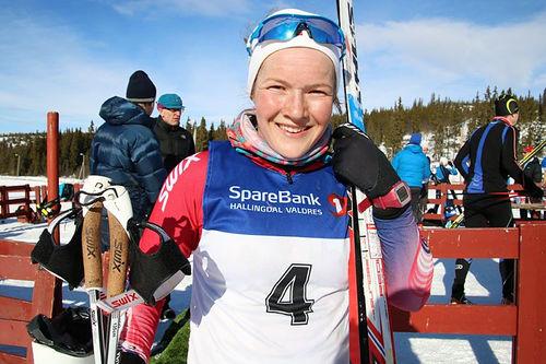 Maren Wangensteen etter at hun vant Mellerunden et tidligere år. Foto: Inger Helene Nybråten.