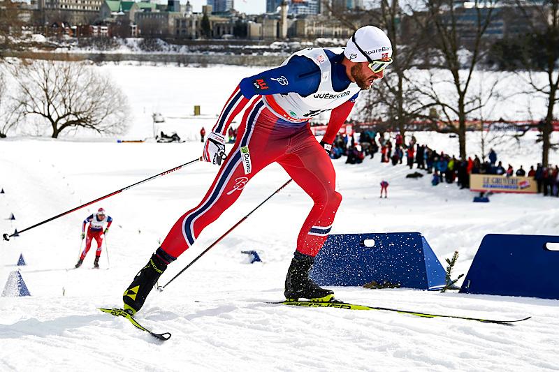 Petter Northug gikk inn til beste tid i prologen og ble nummer 6 i finalen under Ski Tour Canada 2016 sin 1. etappe med skøytesprint i Gatineau. Foto: Felgenhauer/NordicFocus.