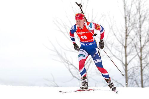 Marte Olsbu. Foto. NordicFocus.