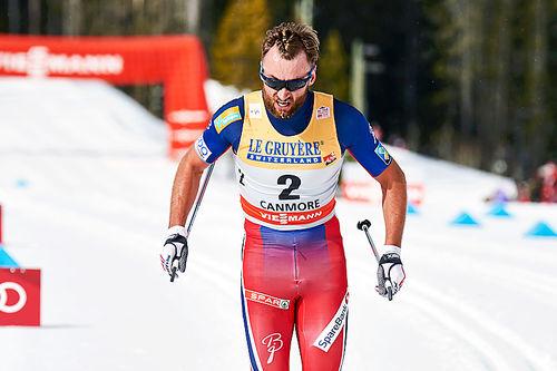Petter Northug på den avsluttende jaktstarten i Ski Tour Canada 2016 der han endte på tredjeplass. Foto: Felgenhauer/NordicFocus.