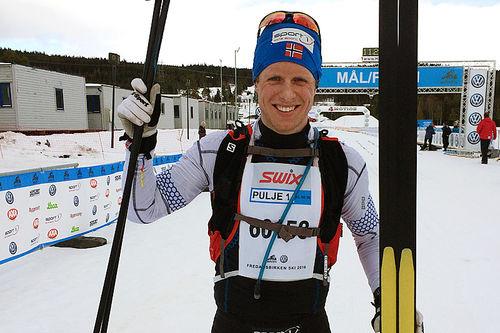 Petter Soleng Skinstad gikk på felleski inn til en suveren seier i FredagsBirken 2016.