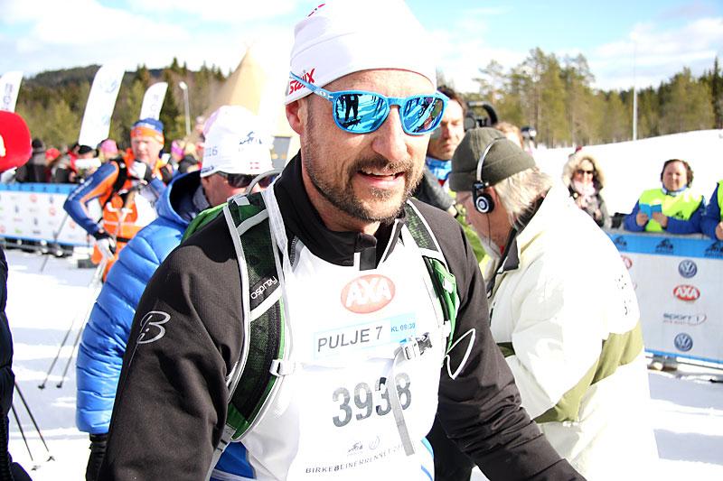 Kronprins Haakon i Birken og Birkebeinerrennet 2016. Foto: Geir Nilsen/Langrenn.com.