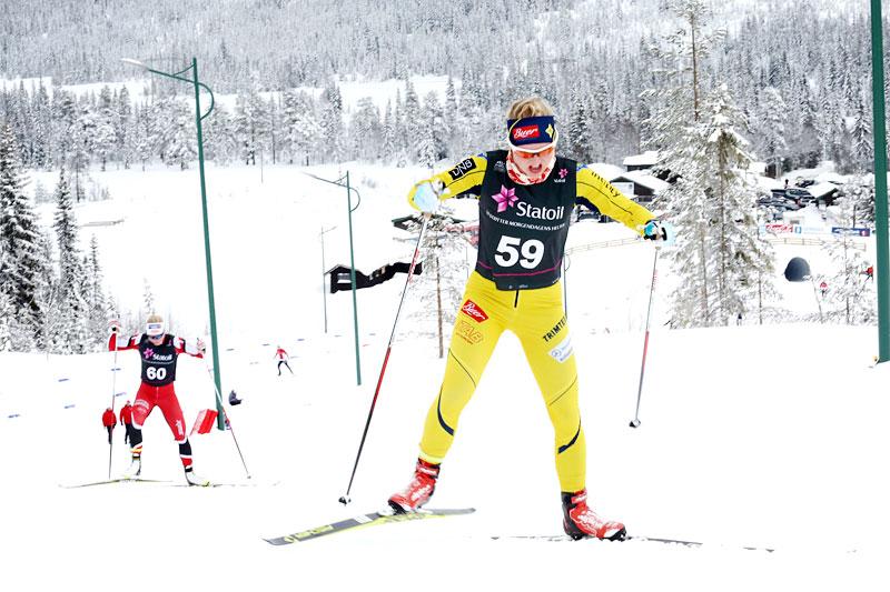 Elise Røer Drabløs i aksjon under Norges Cup Lygna. Foto: Eirik Lund Røer.