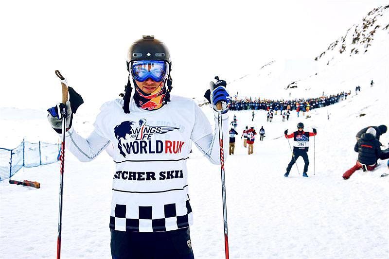 Petter Northug venter på startsignalet i Red Bull Homerun Åre 2016. Foto: Adam Klingeteg/Red Bull Content Pool.