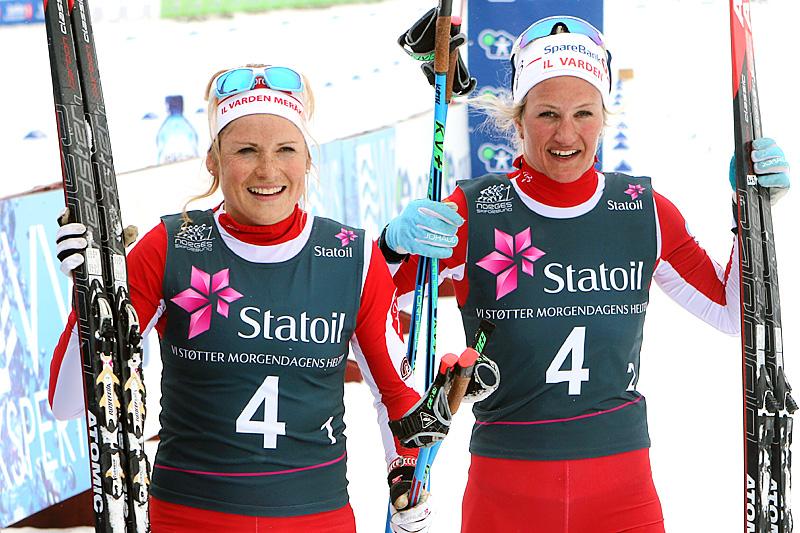 Marthe Kristoffersen (t.v.) og Kathrine Harsem. Foto: Erik Borg.