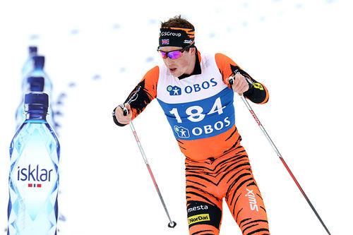 Andrew Musgrave på vei mot 5. plass i 5-mila under NM på Beitostølen 2016. Foto: Erik Borg.