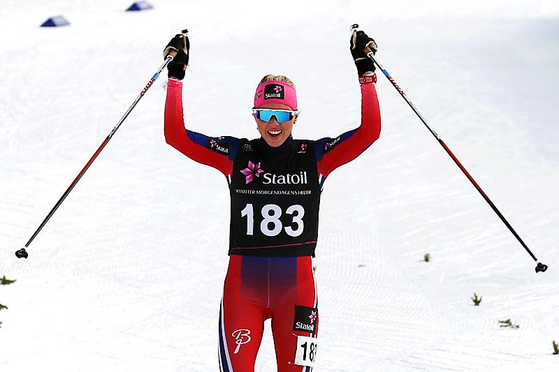 Marte Mæhlum Johansen gikk inn til seier i kvinner 19-20 år sin Norgescup-finale på Beitostølen 2016. Foto: Erik Borg.