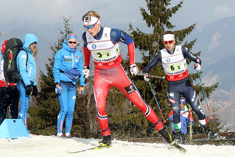 Vebjørn Hegdal i aksjon under Junior-VM i rumenske Rasnov 2016. Foto: Erik Borg.