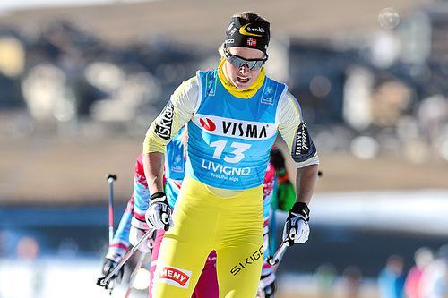 Astrid Øyre Slind underveis på lagtempoen som åpner Ski Classics i Livigno 2015. Foto: Rauschendorfer/NordicFocus.