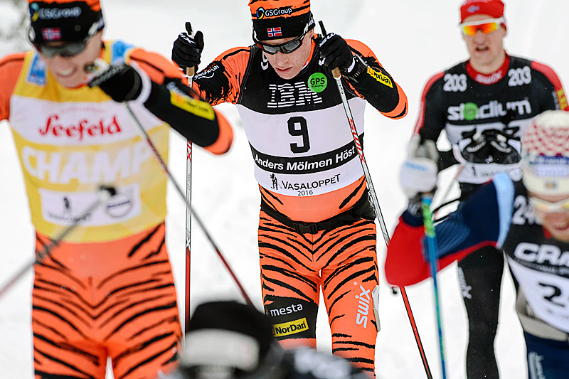 Anders Mølmen Høst i Vasaloppet 2016 der han endte på tredjeplass. Foto: Rauschendorfer/NordicFocus.