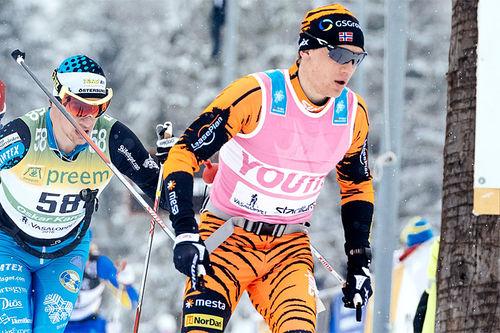 Stian Hoelgaard gikk tidligere for Thomas Alsgaards Team LeasePlan, som her i Vasaloppet 2016, men har foran inneværende sesong blitt en del av Team Koteng. Foto: Magnust Östh/Visma Ski Classics.