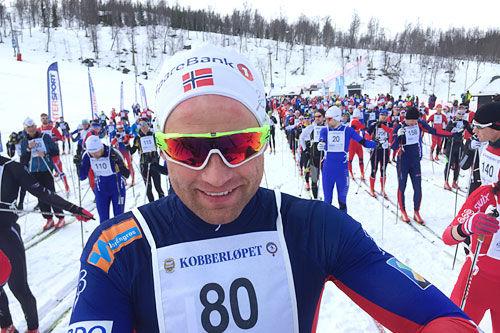 Niklas Dyrhaug er klar for start i Kobberløpet 2016. Foto: Svein Spjelkavik/Kobberløpet.