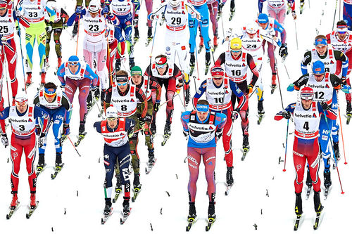 Illustrasjonsbilde fra Tour de Ski. Foto: Felgenhauer/Langrenn.com.