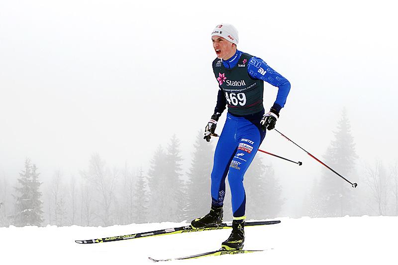 Håvard Moseby kapret 3 gull av 3 mulige i Junior-NM på Savalen 2019. Foto: Erik Borg.