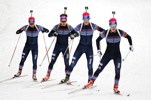 NTG Lillehammer skiskyttere i aksjon. Foto: NTG Lillehammer.