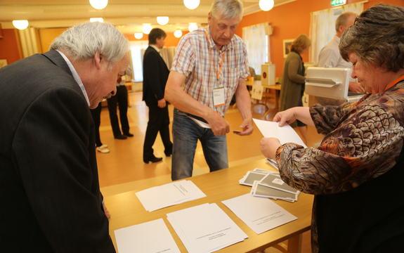 Valg kommunereform opptelling Finneid