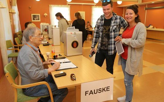 Valg Fauske sentrum kommunereformen 2 velgere