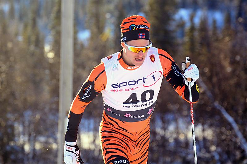 Torgeir Skare Thygesen i Beitosprinten. Foto: Erik Borg.