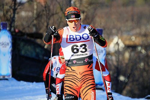 Anders Mølmen Høst i Beitosprinten. Foto: Erik Borg.