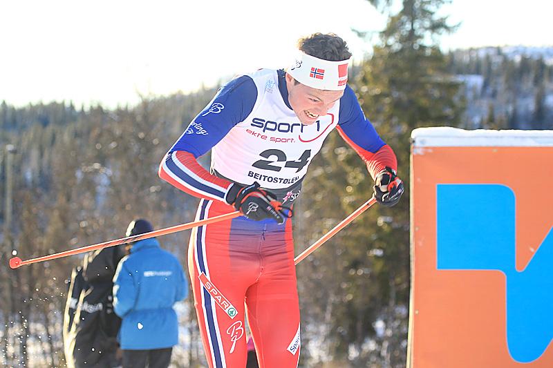 Gjøran Tefre i Beitosprinten en tidligere vinter. Foto: Erik Borg.