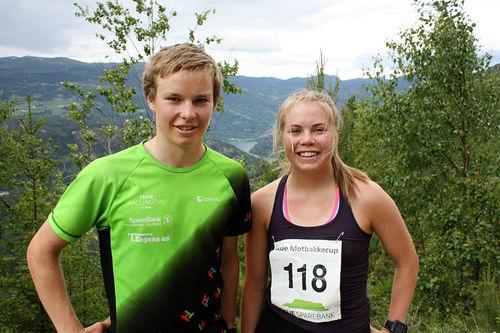 Beste herre og dame i Bergheim Opp 2016 ble tvillingparet Ola og Guro Jordheim fra Hemsedal IL. Arrangørfoto.