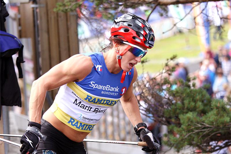 Marit Bjørgen er en løper som er flink til å presse seg hardt, her er hun i Toppidrettsveka. Foto: Geir Nilsen/Langrenn.com.