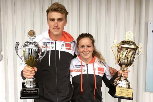 Langrennsløperne Eirik Solvang og Anna Svendsen vant Tour de Andørja 2016 sammenlagt. Foto: Tour de Andørja.