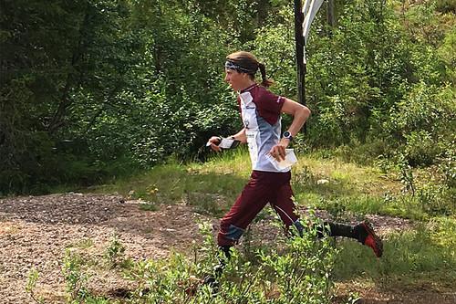 Anne Margrethe Hausken Nordberg på vei mot 2. plass på etappe 2 av O-Ringen Sälen i juli 2016. Foto: Geir Nilsen/Langrenn.com.