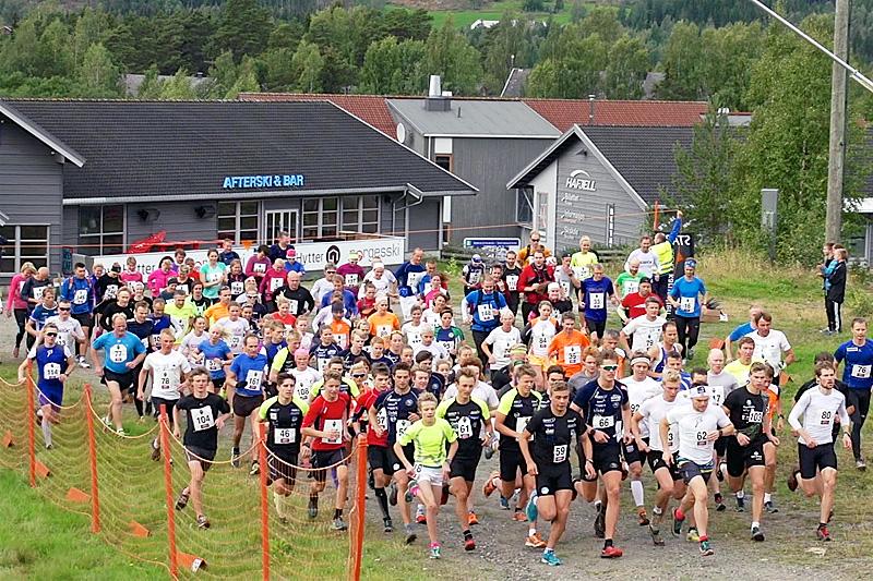 Starten går i Hafjell Opp. Arrangørfoto.