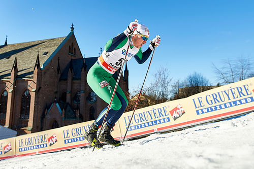 Kasper Stadaas ute på prolog under verdenscupsprinten i Drammen. Søndag går han på Norges førstelag sammen med Johannes Høsflot Klæbo. Foto: Felgenhauer/NordicFocus.