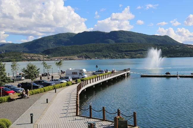 Havneområdet med fontene