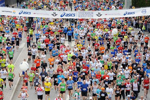 Illustrasjonsbilde fra Stockholm Marathon. Foto: Tommy Berlin.