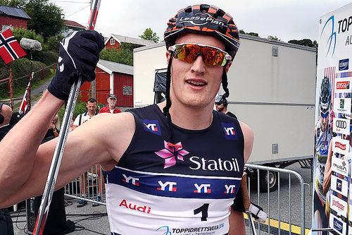 Pål Trøan Aune spurtet til seier på den klassiske sprinten i Aure under Toppidrettsveka et tidligere år. Foto: Geir Nilsen/Langrenn.com.